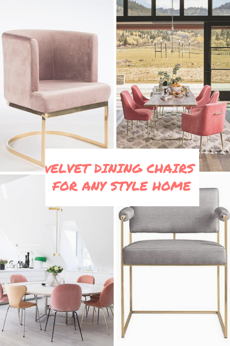 A little tip: If you die over velvet dining chair options like I do (especially the brass structured ones from Design within Reach!) and don't have the cash to spend thousands on each chair, buy some off craigslist and reupholster! All you have to do is keep your eyes peeled for a structure you like thats in good condition. Not hard to do at flea markets, consignment stores, or craigslist! So many options out there to create a custom look with!