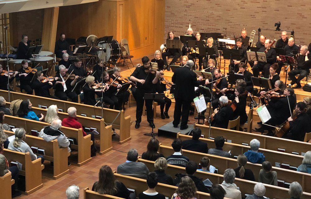 Archer Brown playing the Saint-Saëns Violin Concerto No. 3 with the Minnehaha Music Repertory Orchestra/ Craig Randal Johnson, conducting