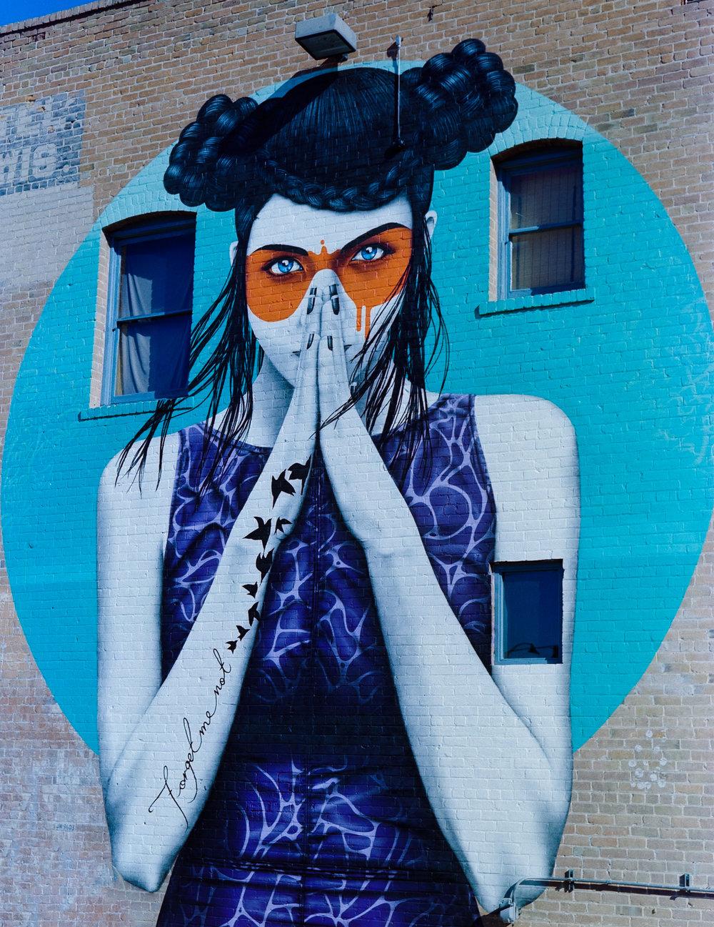 """Mural: """"Vergis"""" by Fin Dac"""
