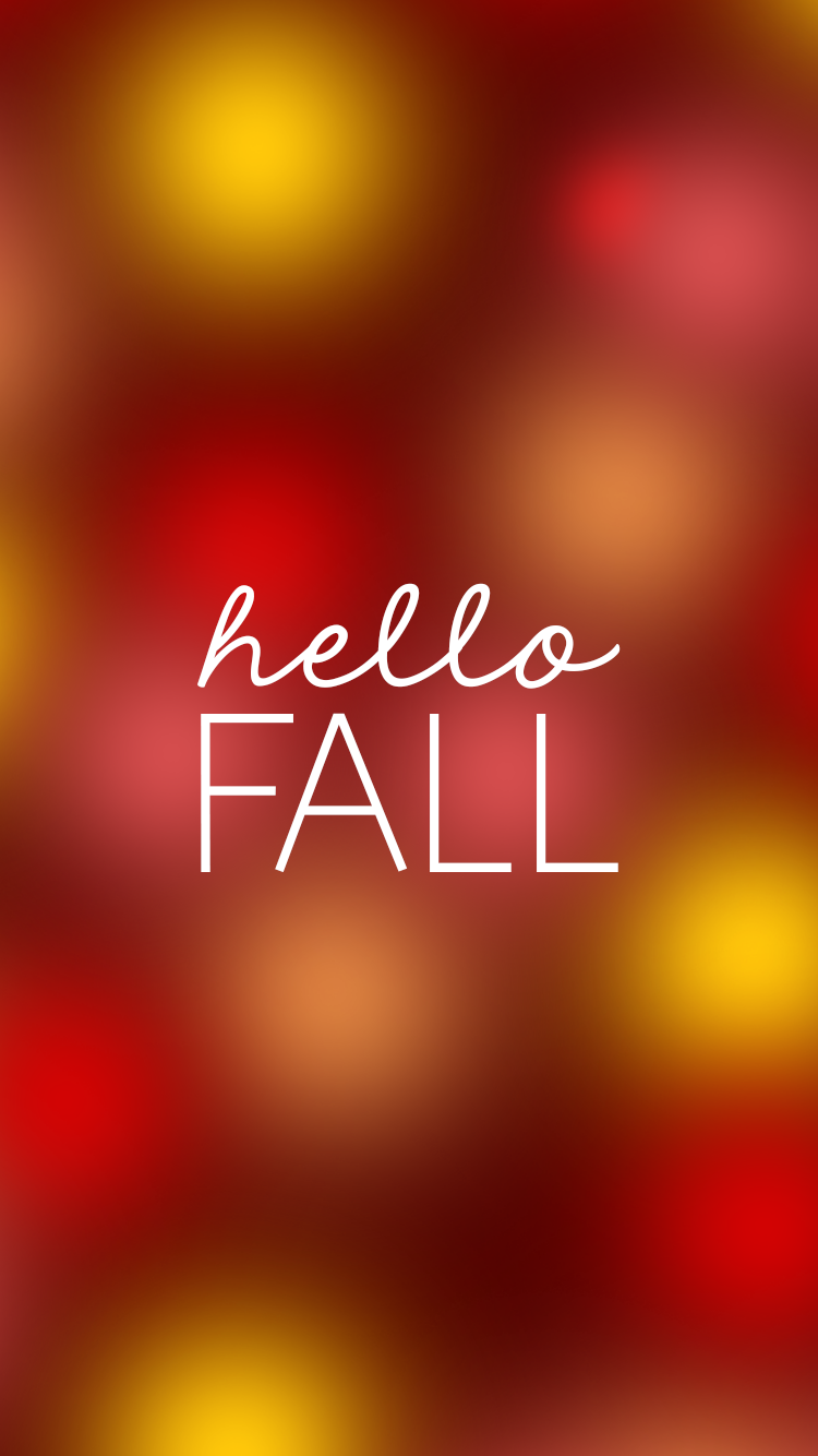 Hello Fall iPhone Background