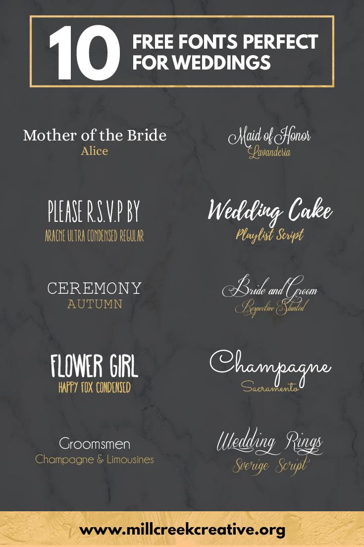10 Free Wedding Fonts
