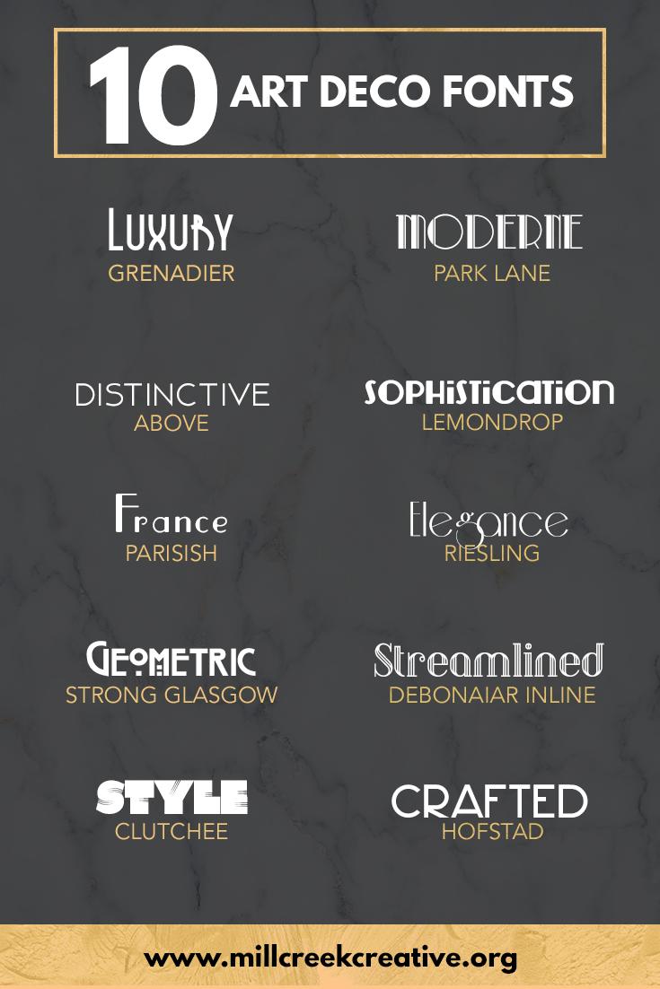 Free Art Deco Fonts