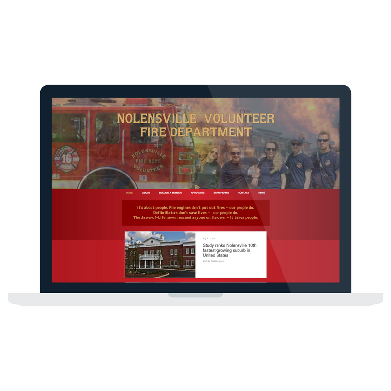 Nolensville Volunteer Fire Department Website.png
