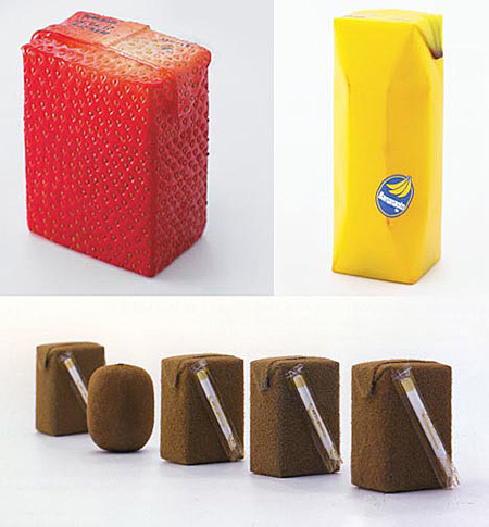 Fruit Juice Box Designs by Naoto Fukasawa