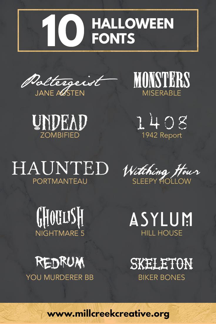 Ten Free Halloween Fonts