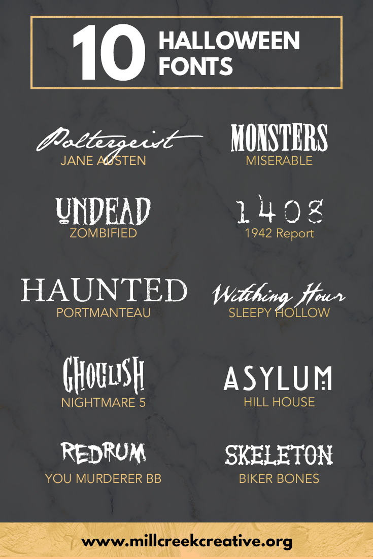 Ten Free Halloween Themed Fonts — Mill Creek Creative