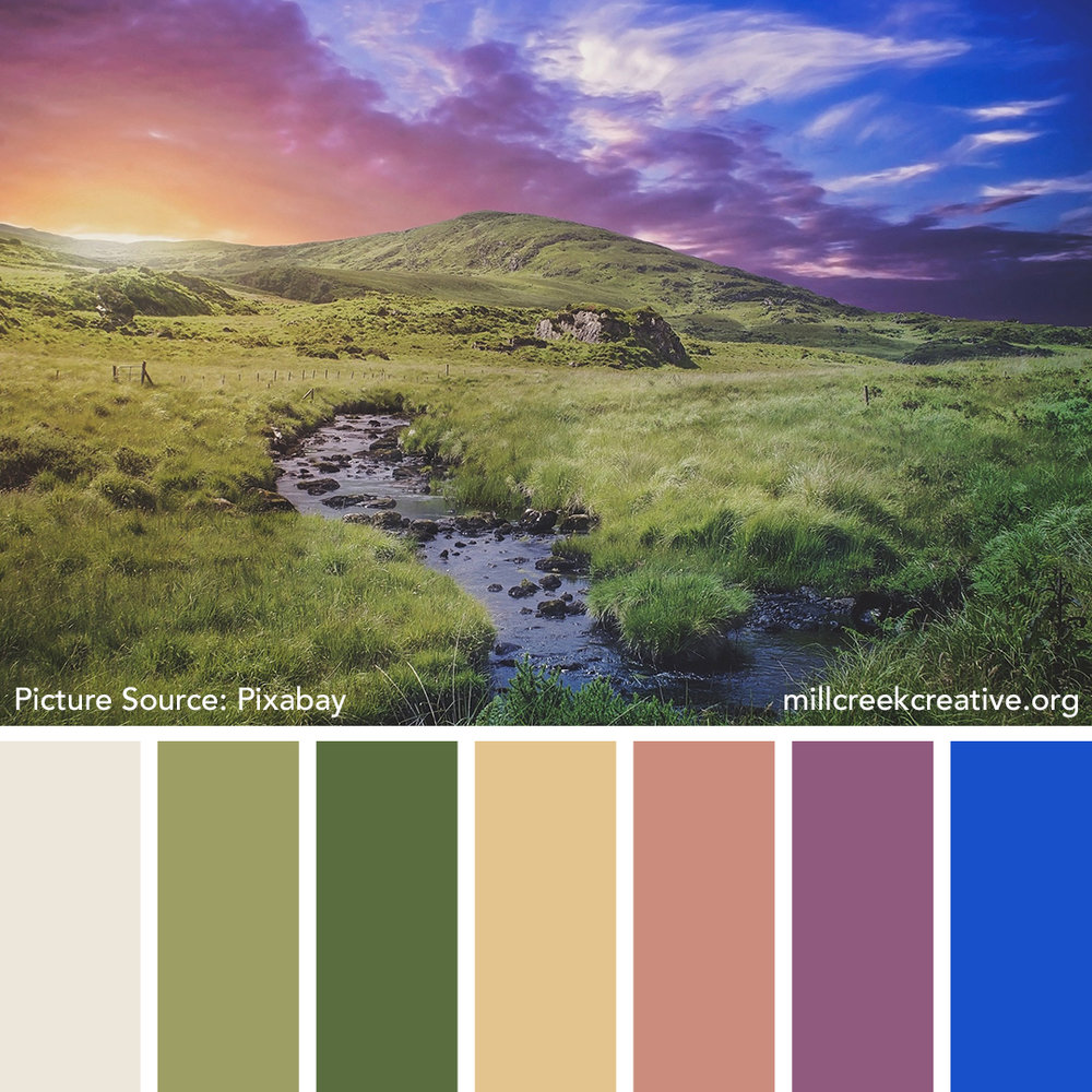 Irish Sunset Color Palette
