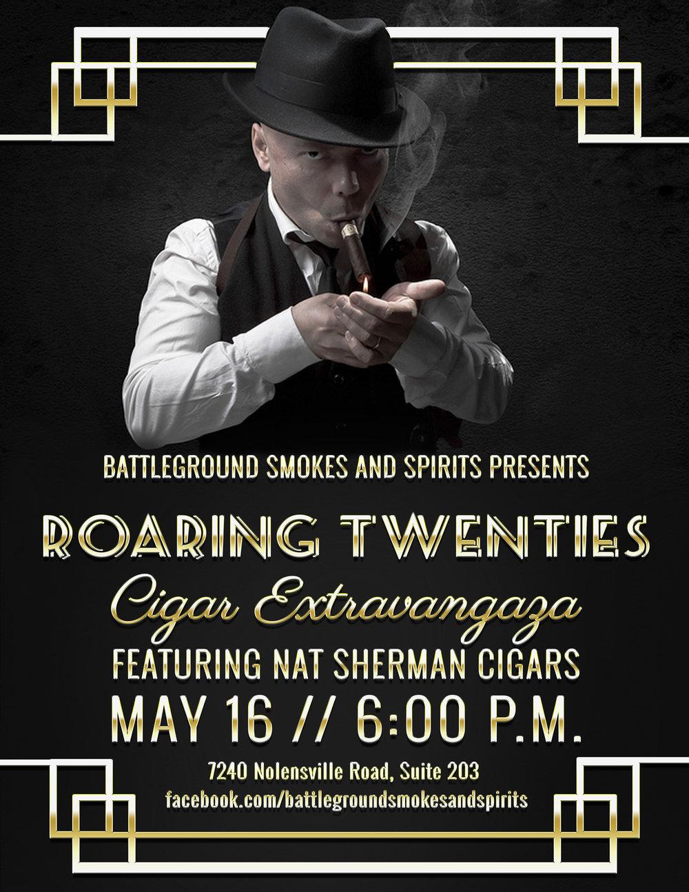 Roaring Twenties Cigar Party Flyer