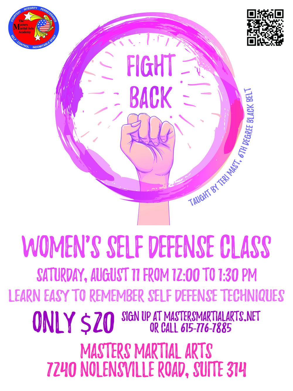 Self Defense Class Flyer