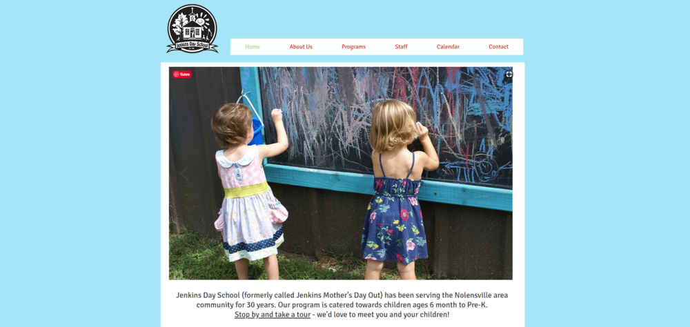 Jenkins Day School Website by Mill Creek Creative