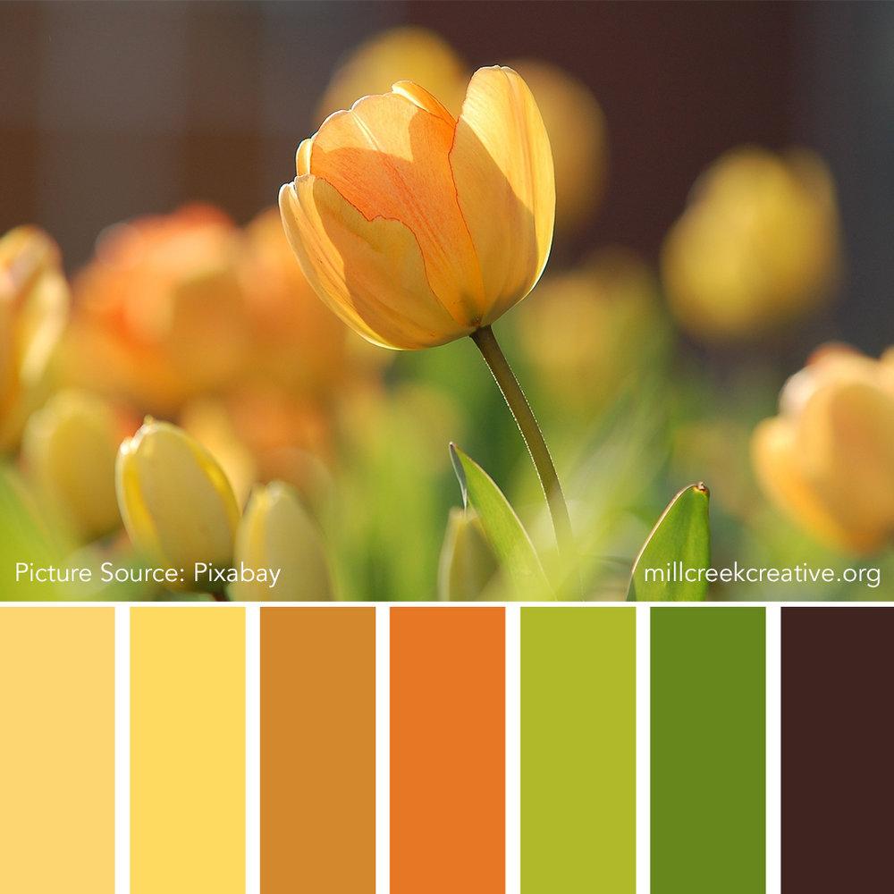 I Love You, Tulip - Spring Color Palette