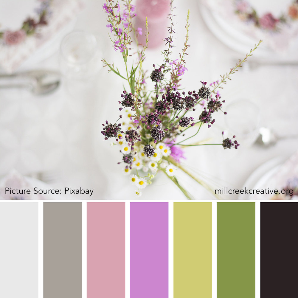 Spring Bouquet | Color Palettes for Design Inspiration | Mill Creek Creative