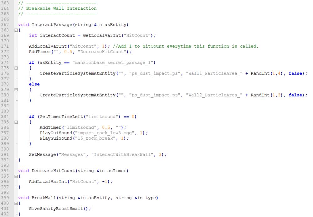 Breakable Wall Interaction Script