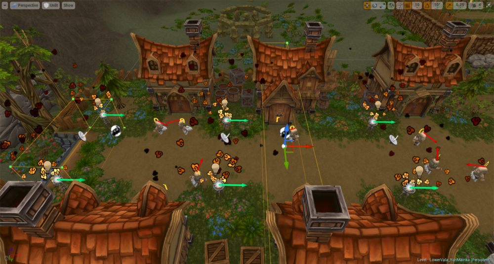 In-editor view of the Townsfolk event triggers