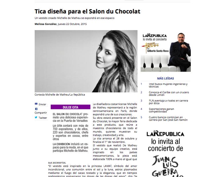 Periódico La República. Costa Rica