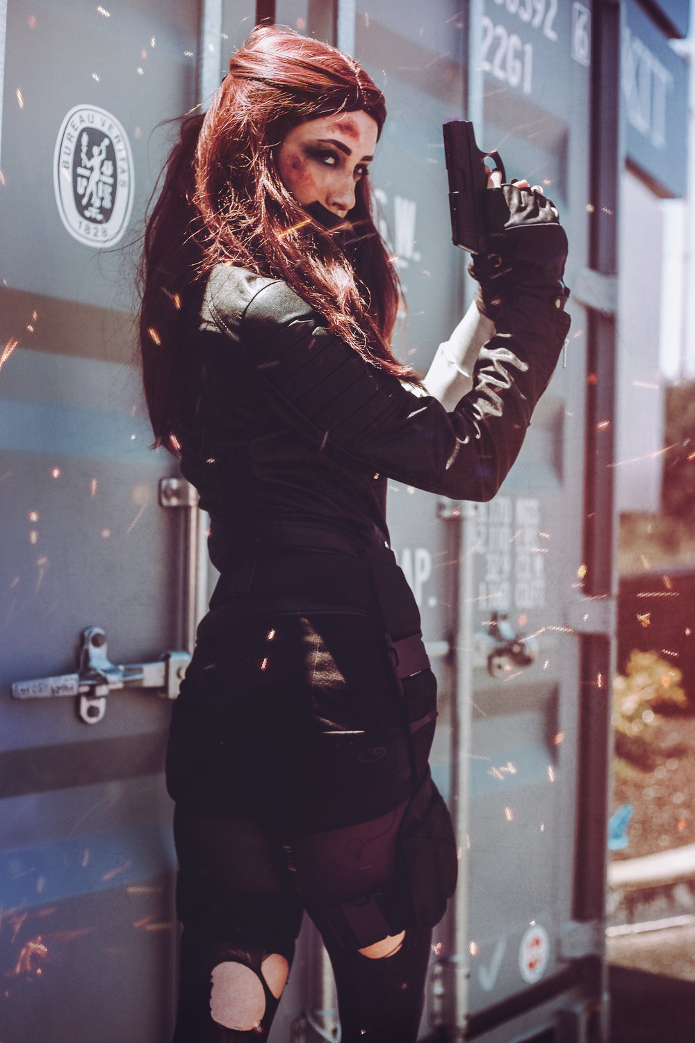 Emily's Bucky Barnes cosplay shot by Aesthel at PortconMaine this year
