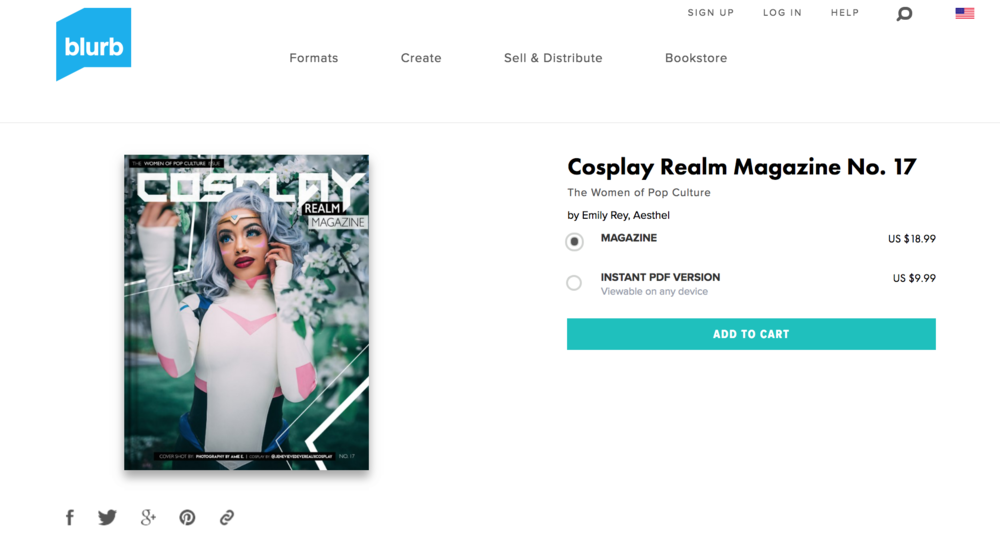 BUY A COPY HERE : http://www.blurb.com/b/8897792-cosplay-realm-magazine-no-17