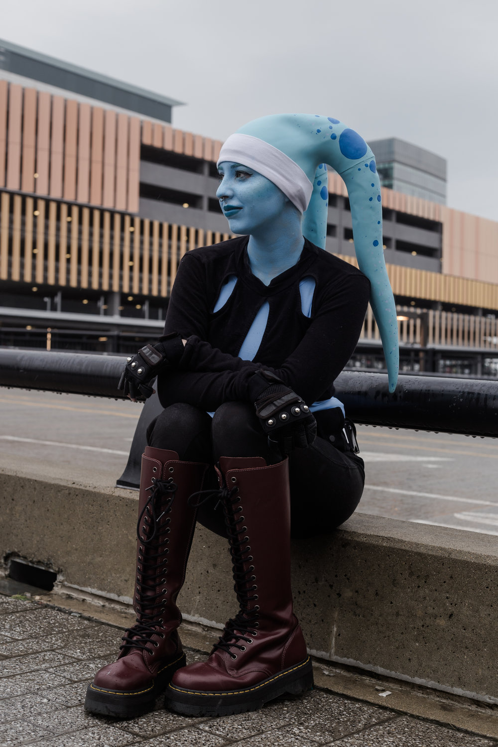 Aesthel in her Star Wars OC Vasani shot by Emily Rey