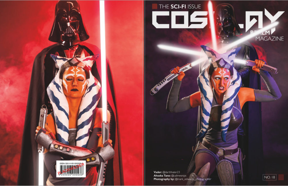 Ahsoka Tano:  @callmesnips  | Vader:  @darthhater23   ► Cover Feature & Cover Photo:  @mark_edwards_photographer