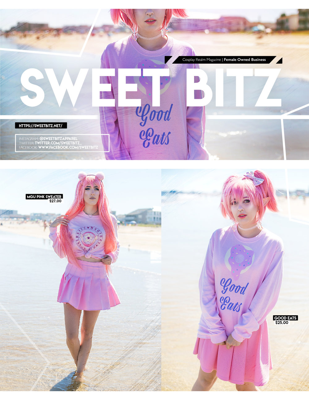Editorial shot for Sweet Bitz