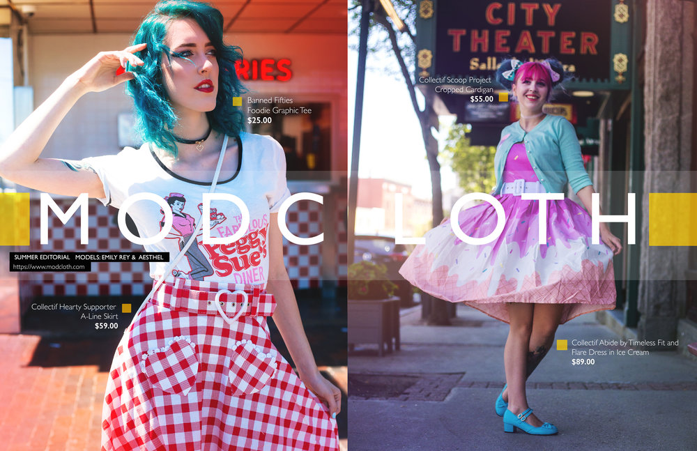 EDITORIAL SHOT AND EDITED FOR MODCLOTH