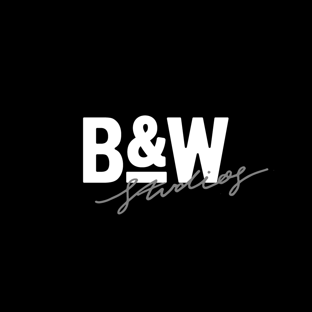 Black white studios branding design