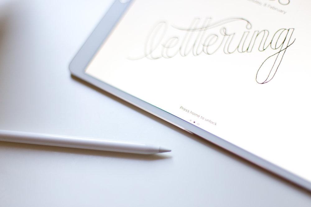 b&w-ipad-lettering-ipad-pro