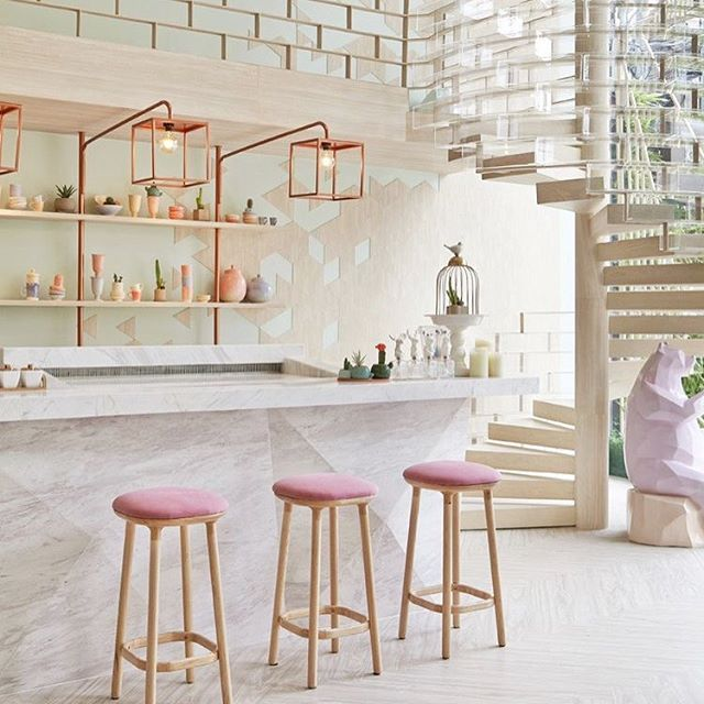 PRETTY PASTELS - This Saturday, we celebrate the beauty in all things pastel. Seen here is the beautiful @shugaa_dessertbar in Bangkok - we can already taste the sweetness they have to offer just by looking at the interior ❤️
