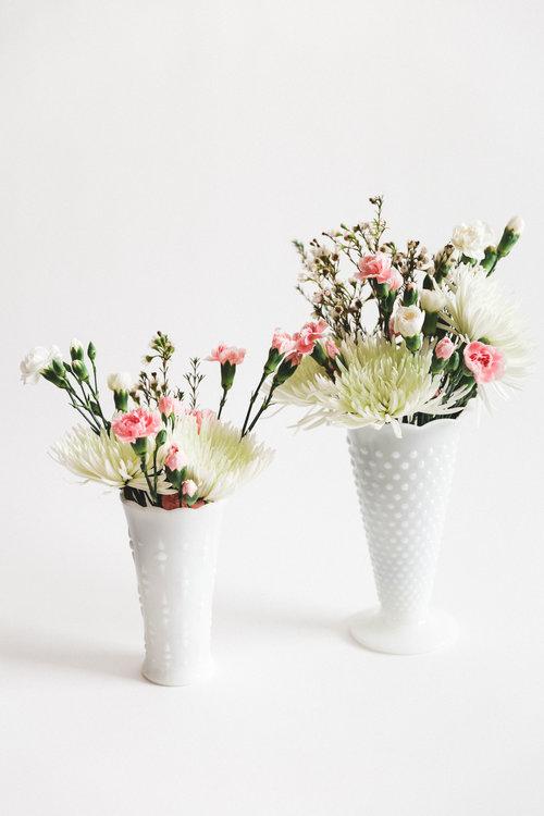 Large Milk Glass Vases Something Borrowed Wedding Rentals