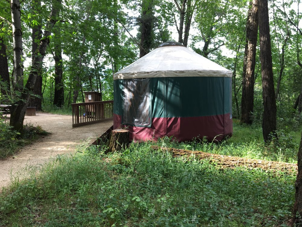 A yurt at Boethe-Napa Valley State Park