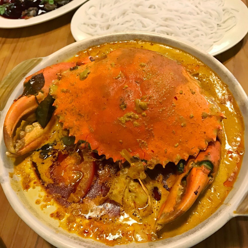Claypot Curry Crab at 3 Crab Delicacy