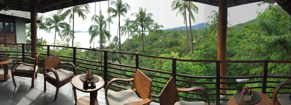 The view from the wellness center at Kamalaya Koh Samui