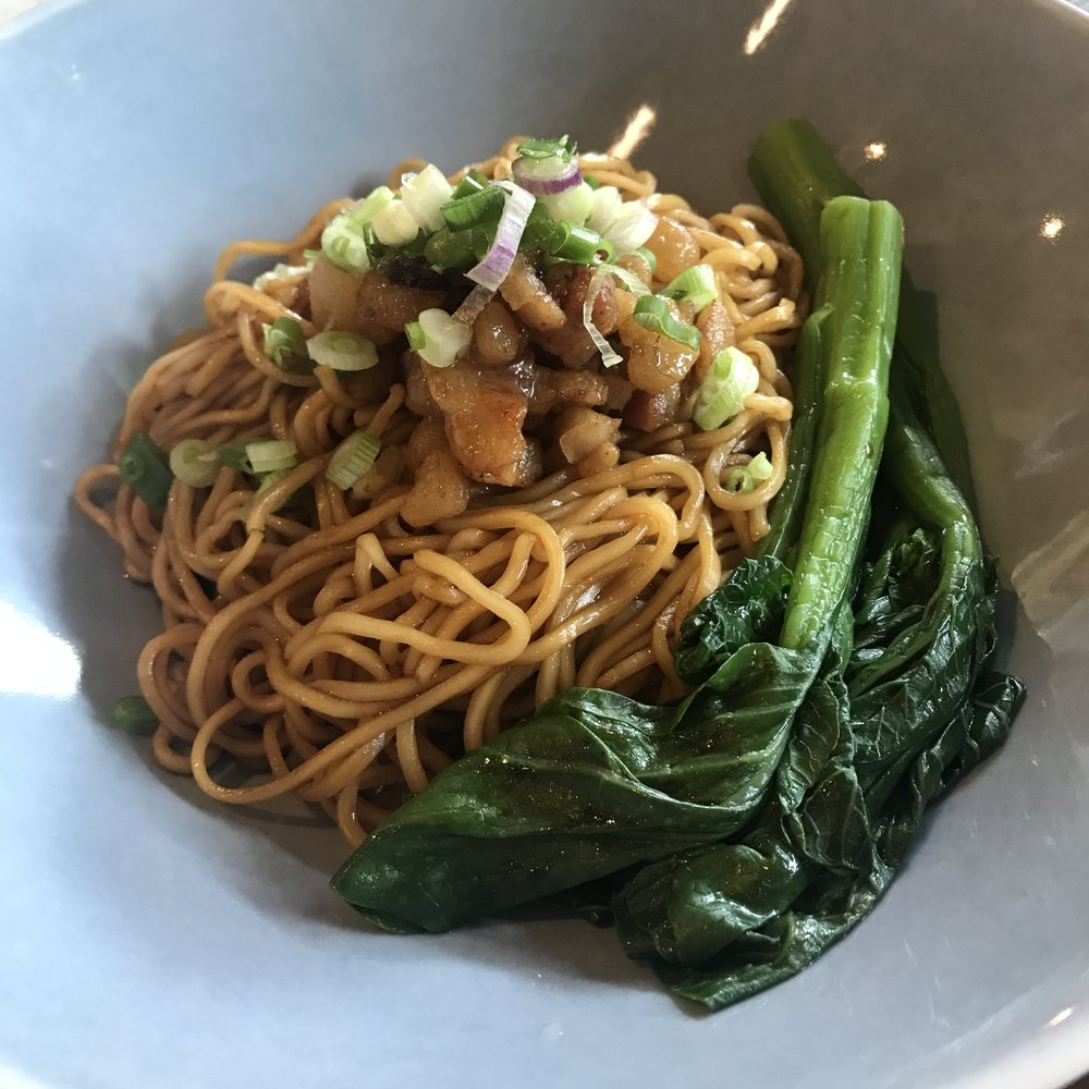 Signature Crispy Pork Lard Truffle Noodles @ S$12 at Chinese Noodle Bar by Blue Lotus, Singapore