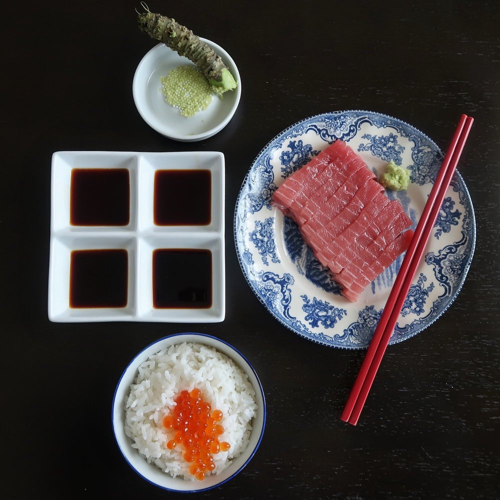 Shoyu taste test with Chu Toro Sashimi & Ikura