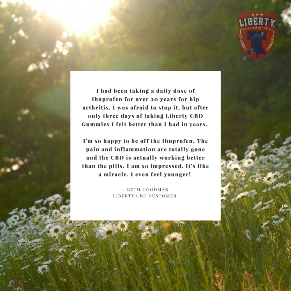 How has Liberty CBD helped you?  Click here and let us know!