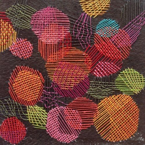 Karin Lundstrom,  Aspen Experiment,  Stitching on Paper (size & date unknown)