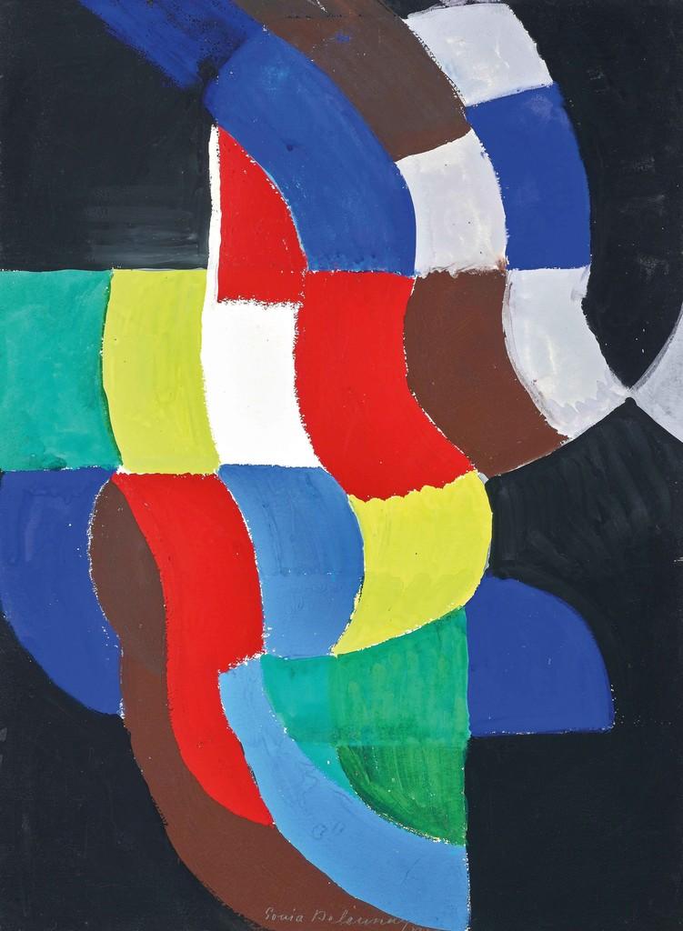 Sonia Delaunay,  Rythme coloré , 1959, Gouache on paper, 76 × 56 cm