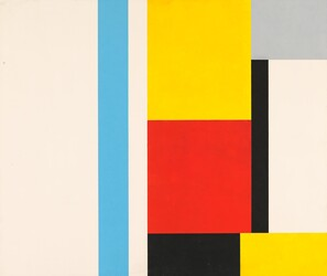 John McLaughlin,  Untitled (Geometric Abstraction)  1953, Oil on composition board, 81.3 x 96.5 cm