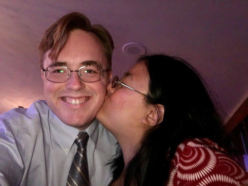 Brock and Wendy at Scott and Tara's Wedding