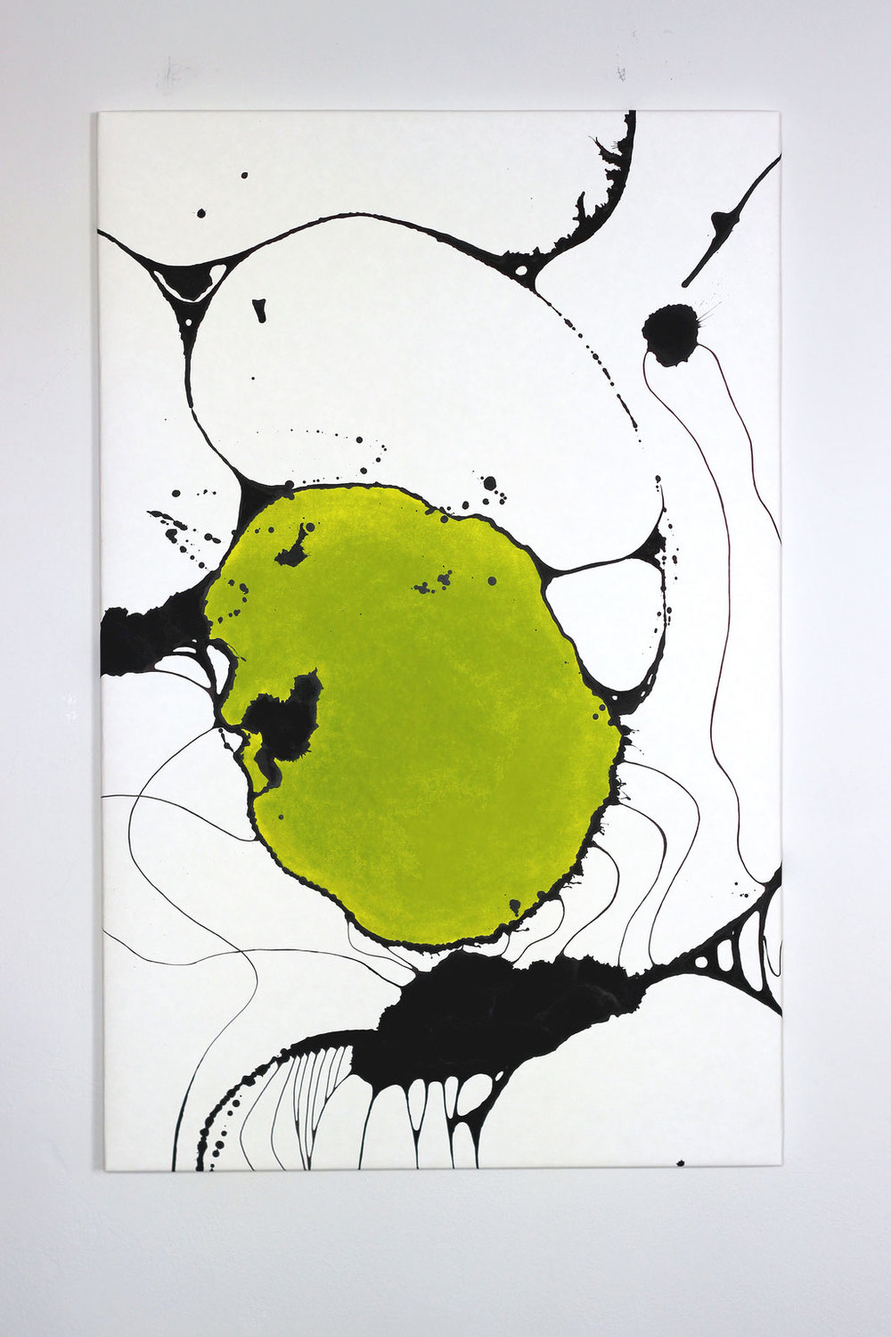 Zwerg  - Acrylic paint on cellulose-latex paper.Stretched over wooden frame.height: 140cm   width: 90cm