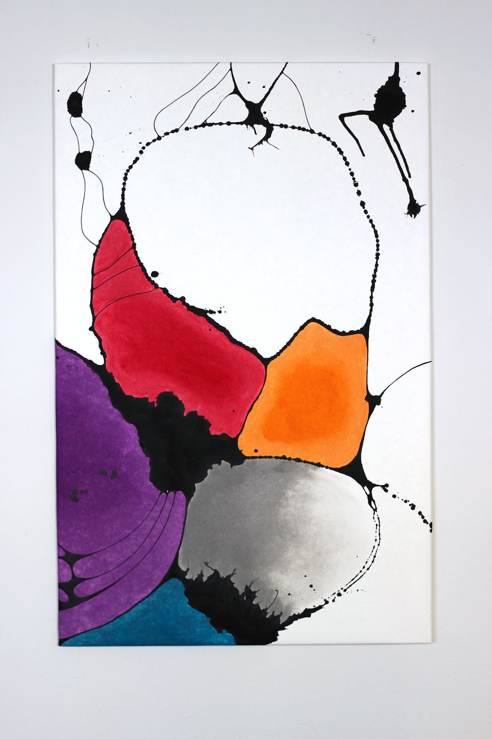 Vatertag - Acrylic paint on cellulose-latex paper.Stretched over wooden frame.height: 140cm width: 90cm