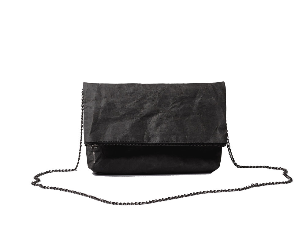 Folded clutch black