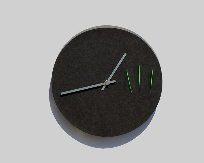 The 3rd -  diameter: 31,5 cm    depth: 5 cmAvailable in white, gray or black.Each clock is made by hand.