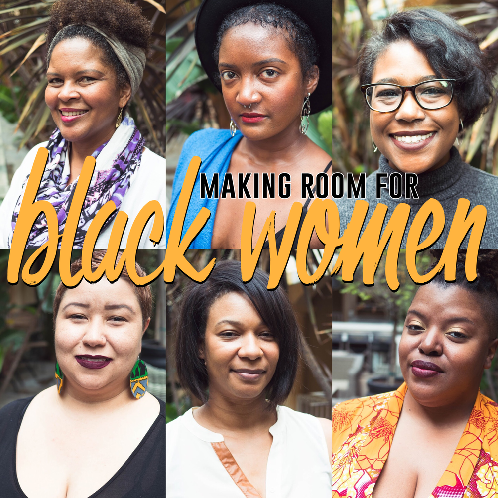 "image above, headshots of 6 black women - Darlene Kriesel, Chenel King, Saliha DeVoe, Jessica ""Yellawoman"" Gallion, Dr. Ashaki Jackson, and bridgette bianca. Photo Credit - Wes Kriesel."