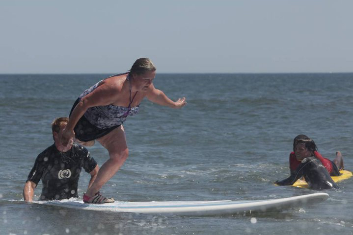 Tara Surfing on Long Island in 2010