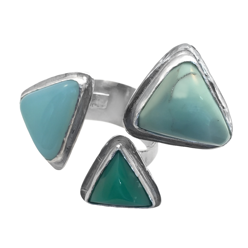 MINT Chocolate Chip Chalcedony, Opal, and Aquamarine Ring - 5.png