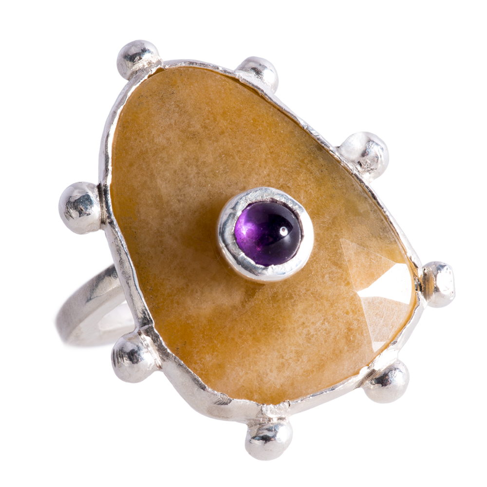Yellow Sapphire & Amethyst Petits Four Ring - 3.png