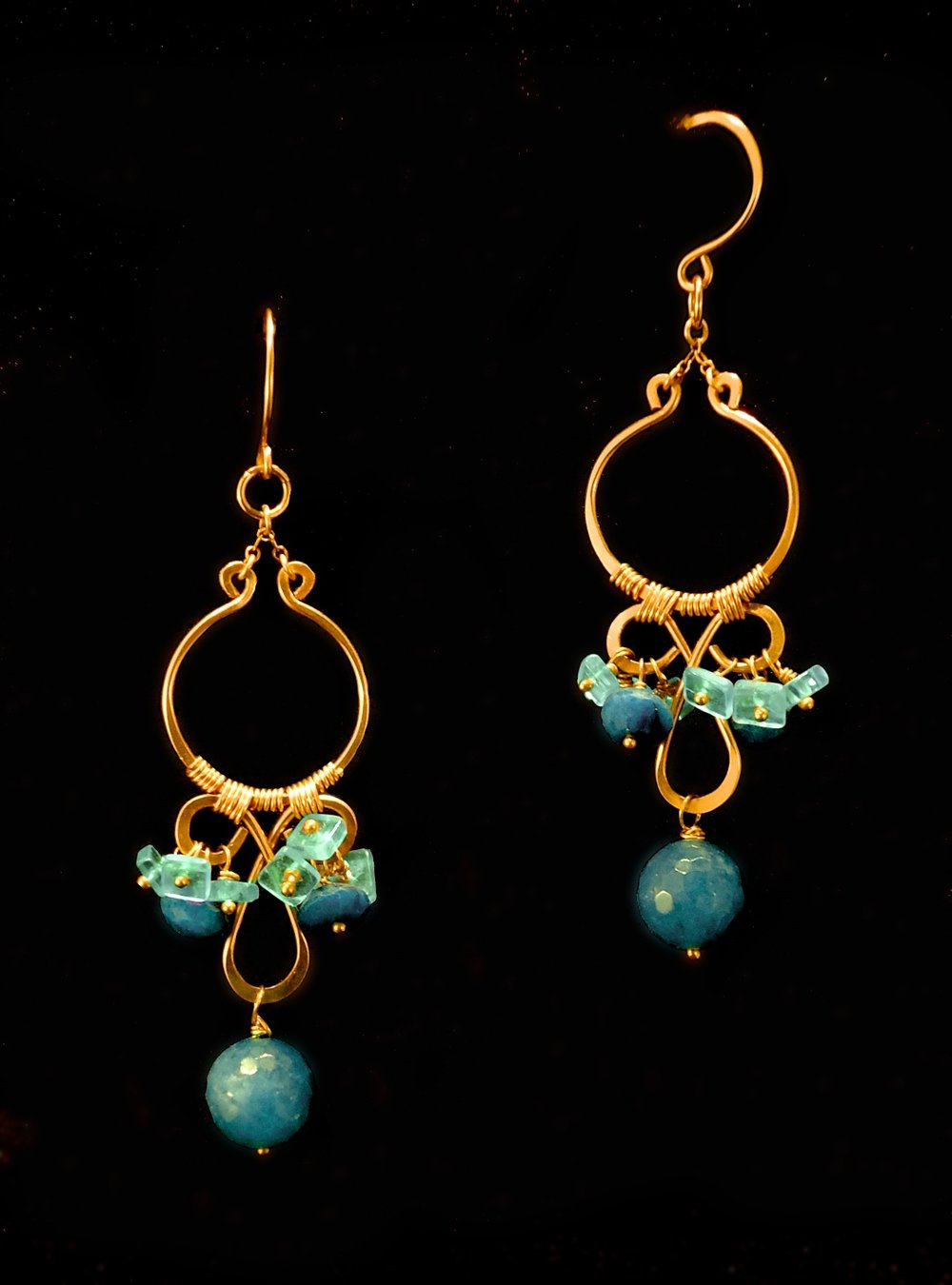 Chrysocolla & Aquamarine Chandeliers