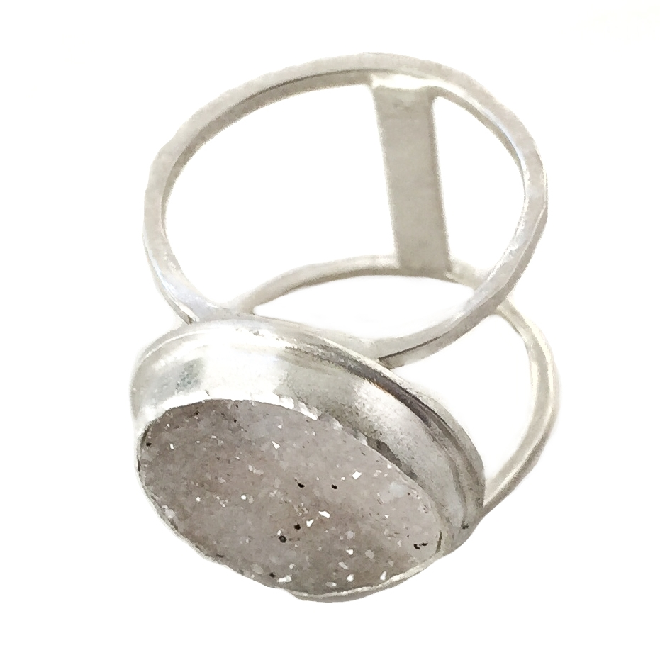 Druzy Quartz Split Shaft Ring - 1.jpg