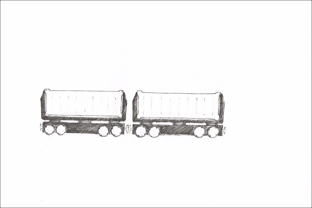 Multiple designs for a Cargo train
